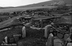 Shetland, Jarlshof Hut Settlement c.1955, Shetland Islands