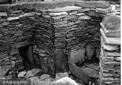 Shetland, Jarlshof Passage House c.1955, Shetland Islands