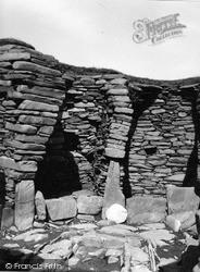 Shetland, Jarlshof Wheel House No 1 c.1955, Shetland Islands