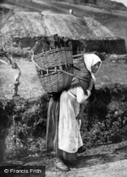 Shetland, Lady Carrying Peat 1890