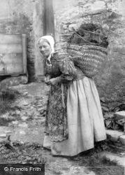 Shetland, Lady Carrying Peat c.1890, Shetland Islands