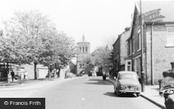 St John's Church And Main Street c.1960, Shildon