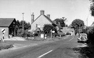 Shillingstone, Post Office and Main Road c1955