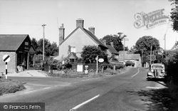 Shillingstone, Post Office And Main Road c.1955