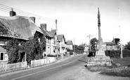 Shillingstone, the Cross and Main Road c1955