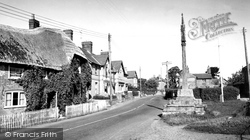 Shillingstone, The Cross And Main Road c.1955