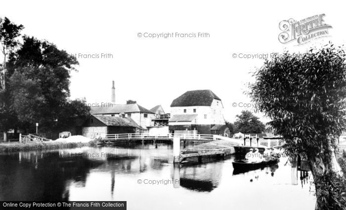 Shiplake,Mill and Lock 1890,Oxfordshire