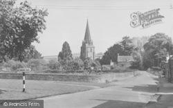 Shipton-Under-Wychwood, The Green And Church c.1955, Shipton Under Wychwood