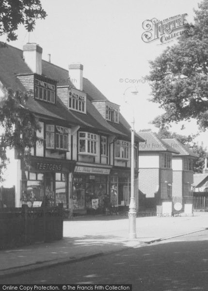 Photo of Shirley, Shops On Bridle Road c.1960