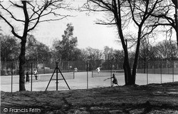 Shirley, The Tennis Courts, Spring Park c.1955