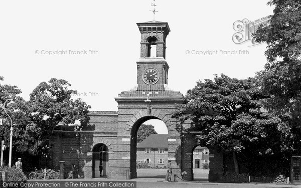 Shoeburyness, the Garrison Clock Tower c1955.  (Neg. S275006)  © Copyright The Francis Frith Collection 2005. http://www.frithphotos.com