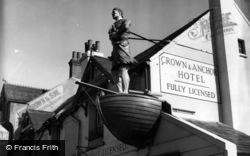 Shoreham-By-Sea, Figurehead, Crown And Anchor Hotel c.1955