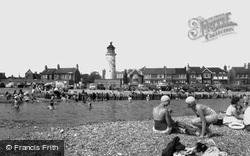 Shoreham-By-Sea, Kingston Beach And Kingston Buci Lighthouse c.1960, Shoreham-By-Sea