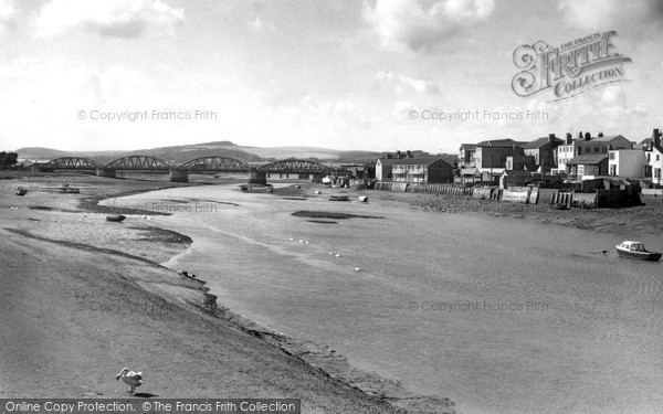 Shoreham-By-Sea, looking towards the Norfolk Bridge c1960