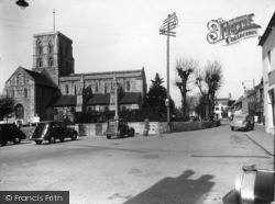 Shoreham-By-Sea, St Mary's Church And East Street c.1950