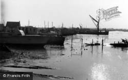 Shoreham-By-Sea, Sunset On The Harbour c.1950