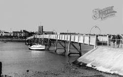 Shoreham-By-Sea, The River Adur And Footbridge c.1950