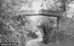Shorwell, Rustic Bridge c.1955
