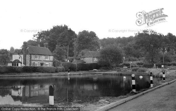 Photo of Shottermill, The Village Pond c.1955