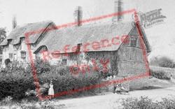 Shottery, Anne Hathaway's Cottage And Village Children c.1880