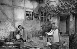 Shottery, Washing Day c.1890