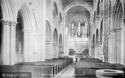 Shrewsbury, Abbey Church, The Nave East 1896