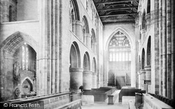 Shrewsbury, Abbey Church, The Nave West 1896