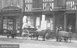 Shrewsbury, Carts On High Street c.1900