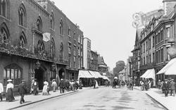 Shrewsbury, Raven Hotel And Castle Street 1911