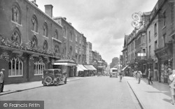 Shrewsbury, Raven Hotel And Castle Street 1931