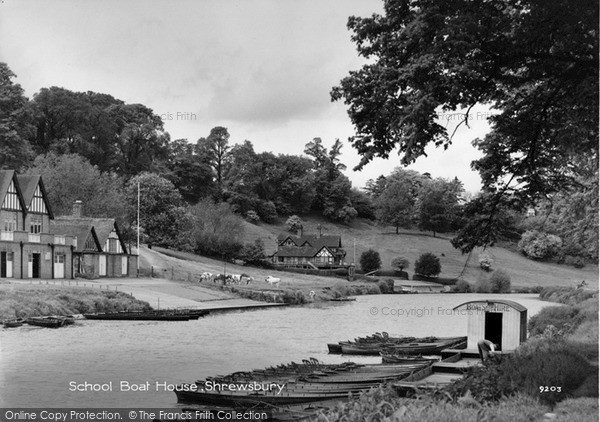 Shrewsbury School Boat House 1958 Francis Frith