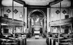 Shrewsbury, St Chad's Church Interior 1911