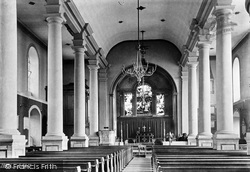 Shrewsbury, St Julian's Church Interior 1891