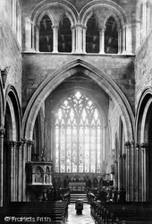 Shrewsbury, St Mary's Church Interior 1891