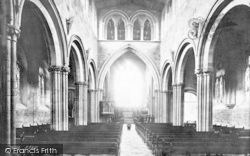 Shrewsbury, St Mary's Church Nave 1891