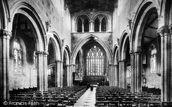 Shrewsbury, St Mary's Church, The Nave East 1896