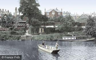 Shrewsbury, the Boat House Inn Ferry 1911