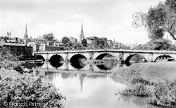 Shrewsbury, The English Bridge 1931