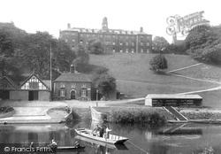 Shrewsbury, The School And Boathouse 1911