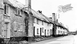 Old Cottages, School Street c.1955, Sidford