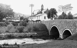 Sidford, The Bridge And River Sid c.1955