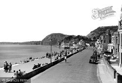 Sidmouth, Central Promenade c.1955
