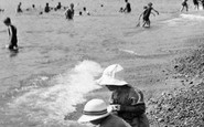 Sidmouth, Children On The Beach 1924
