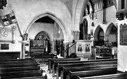 Sidmouth, Church Chapel, Interior 1928