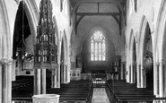 Sidmouth, Church Interior 1928