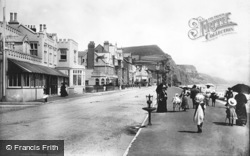 Sidmouth, Esplanade And Bedford Hotel 1904
