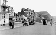 Sidmouth, Esplanade Looking East c.1955