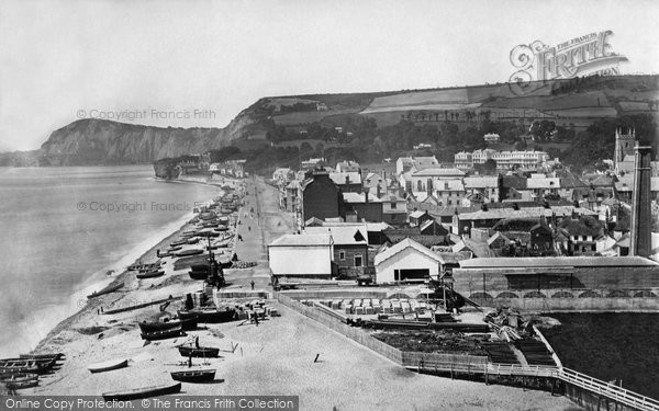 Photo of Sidmouth, From Alma Hill c.1874