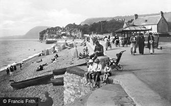 Sidmouth, looking West 1918
