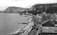 Sidmouth, Looking West 1928